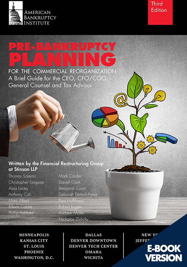 Pre-Bankruptcy Planning for the Commercial Reorganization: A Brief Guide for the CEO, CFO/COO, General Counsel and Tax Advisor, Third Edition